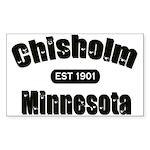 Chisholm Established 1901 Rectangle Sticker 10 pk