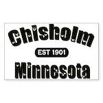 Chisholm Established 1901 Rectangle Sticker 50 pk