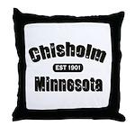 Chisholm Established 1901 Throw Pillow