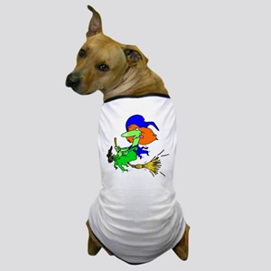 Green Witch Dog T-Shirt