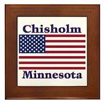 Chisholm US Flag Framed Tile