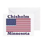 Chisholm US Flag Greeting Card