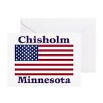 Chisholm US Flag Greeting Cards (Pk of 20)