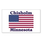 Chisholm US Flag Rectangle Sticker 10 pk)