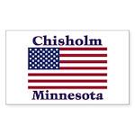 Chisholm US Flag Rectangle Sticker 50 pk)