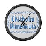 Chisholm Minnesnowta Large Wall Clock
