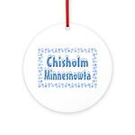 Chisholm Minnesnowta Ornament (Round)