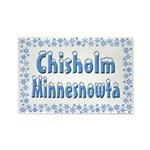 Chisholm Minnesnowta Rectangle Magnet