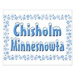 Chisholm Minnesnowta Small Poster