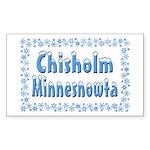 Chisholm Minnesnowta Rectangle Sticker