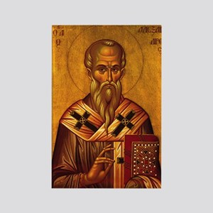 Saint Alexander Icon Rectangle Magnet