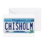 Chisholm License Plate Greeting Cards (Pk of 20)
