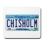 Chisholm License Plate Mousepad