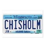 Chisholm License Plate Postcards (Package of 8)