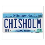 Chisholm License Plate Small Poster