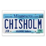 Chisholm License Plate Rectangle Sticker