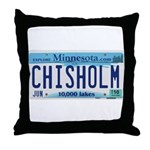 Chisholm License Plate Throw Pillow