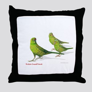 Western Ground Parrot Throw Pillow