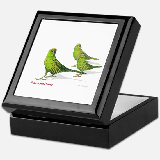 Western Ground Parrot Keepsake Box