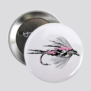 """PINK CAMO FLY 2.25"""" Button"""