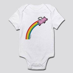 Flying Pig Rainbow Infant Bodysuit