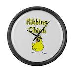 Hibbing Chick Large Wall Clock