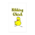 Hibbing Chick Rectangle Sticker 50 pk)