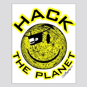 Hack the Planet Small Poster