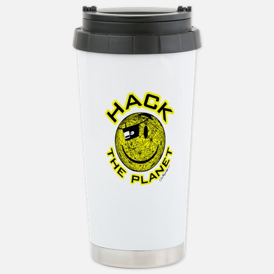 Hack the Planet Stainless Steel Travel Mug