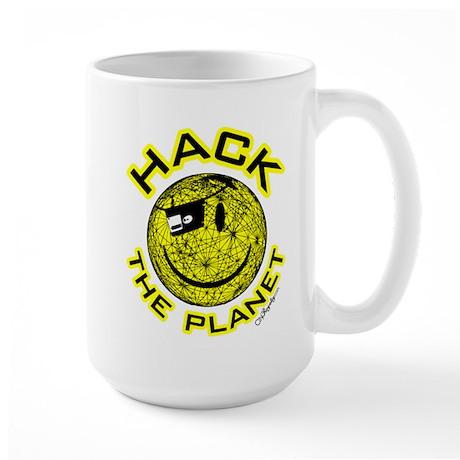 Hack the Planet Large Mug