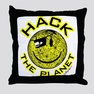 Hack the Planet Throw Pillow