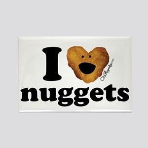 I Love Nuggets Rectangle Magnet