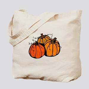 Three Pumpkins Tote Bag