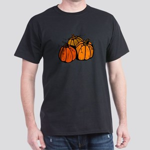 Three Pumpkins Dark T-Shirt