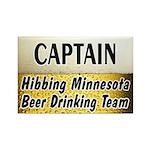 Hibbing Beer Drinking Team Rectangle Magnet (100 p