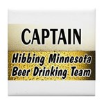 Hibbing Beer Drinking Team Tile Coaster