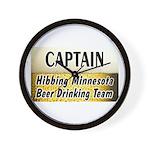 Hibbing Beer Drinking Team Wall Clock