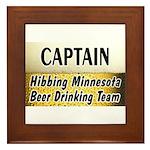 Hibbing Beer Drinking Team Framed Tile