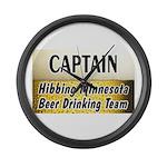 Hibbing Beer Drinking Team Large Wall Clock