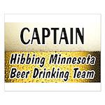 Hibbing Beer Drinking Team Small Poster