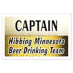 Hibbing Beer Drinking Team Large Poster