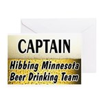 Hibbing Beer Drinking Team Greeting Cards (Pk of 1