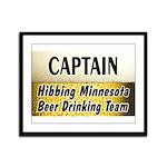 Hibbing Beer Drinking Team Framed Panel Print