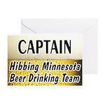 Hibbing Beer Drinking Team Greeting Cards (Pk of 2