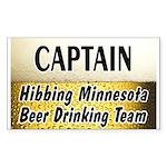 Hibbing Beer Drinking Team Rectangle Sticker