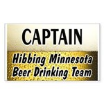 Hibbing Beer Drinking Team Rectangle Sticker 50 p