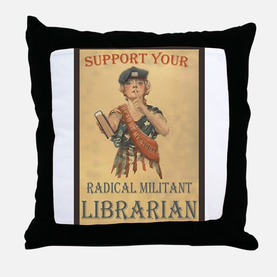 Support Your Radical Militant Librarian Throw Pill