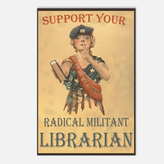 Support Your Radical Militant Librarian Postcards