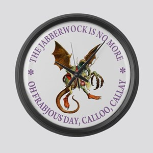 THE JABBERWOCK IS NO MORE Large Wall Clock