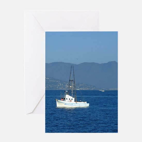 Fishing Boat in San Francisco Greeting Card